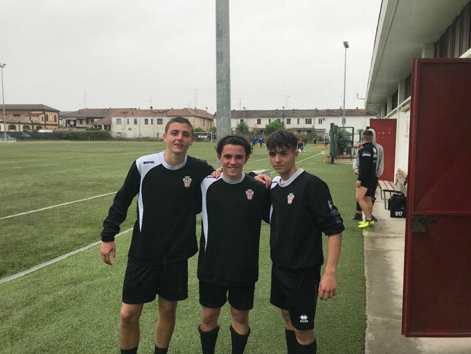 Allenamento con la Pro Vercelli per tre giovani calciatori brindisini