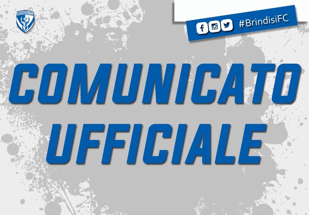 COMUNICATO UFFICIALE - PREVENDITA BIGLIETTI BRINDISI-GELBISON