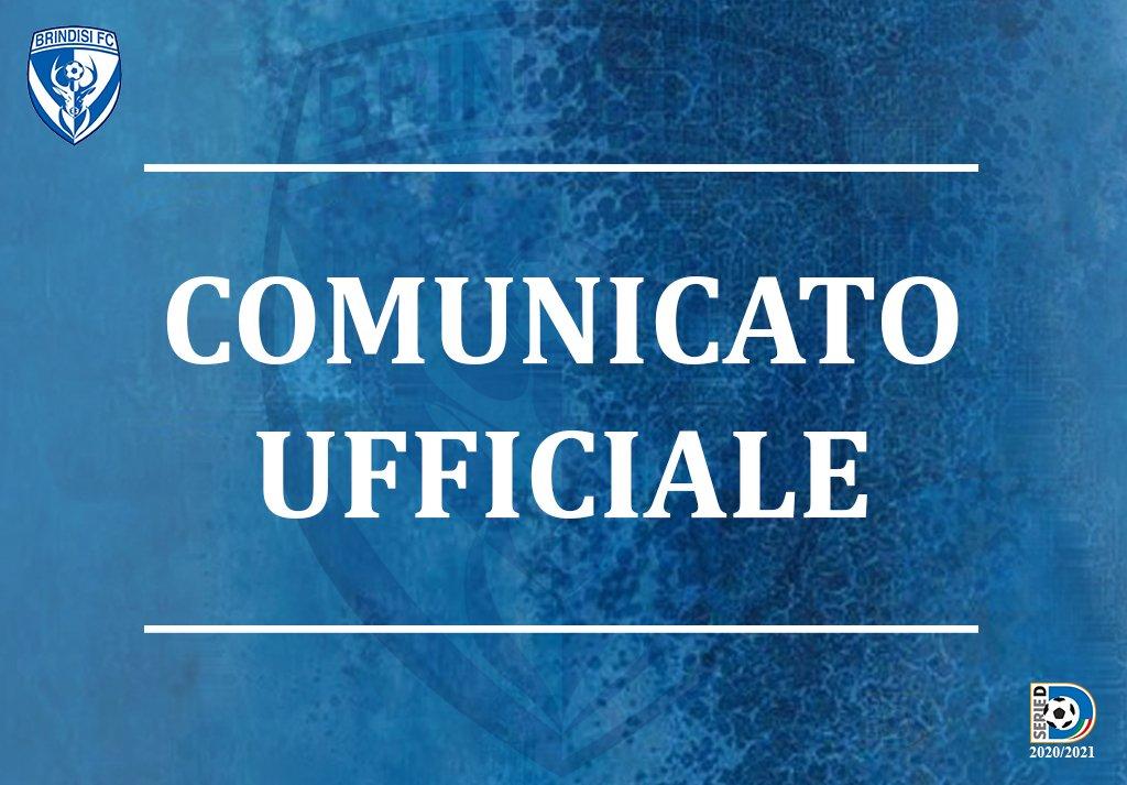 Comunicato stampa SSD Brindisi FC del 25/06/2021