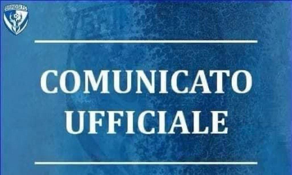 Comunicato ufficiale