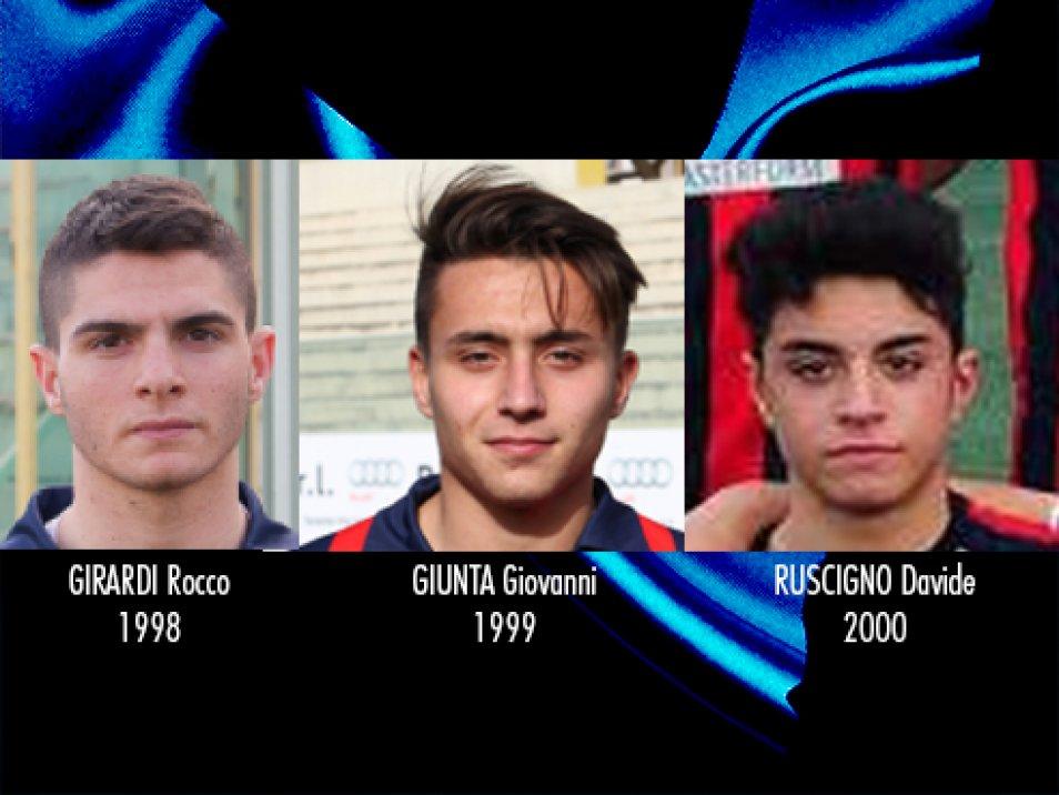 Ufficiale il tesseramento di tre giovani calciatori