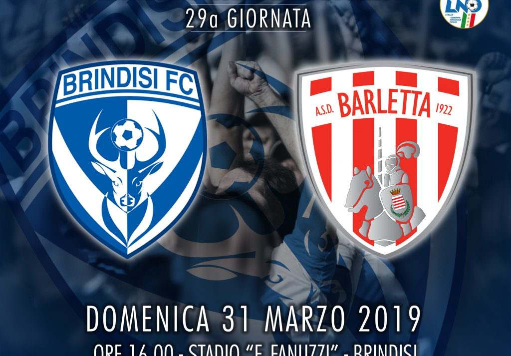 BRINDISI - BARLETTA: giornata pro Brindisi, partita la prevendita.