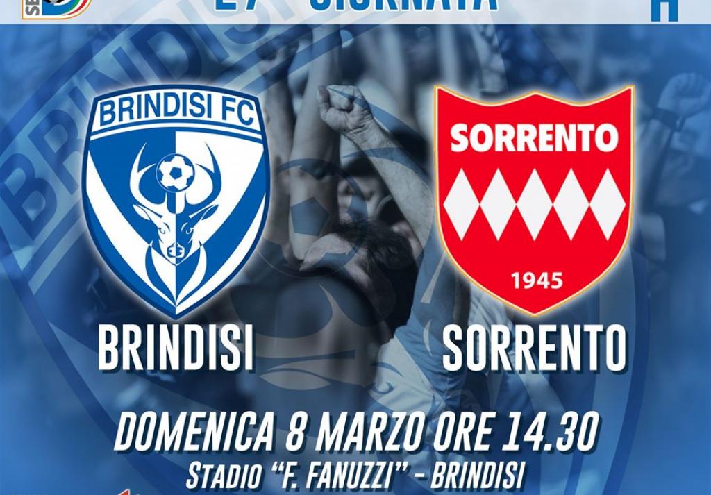 Brindisi FC VS Sorrento partita rinviata a data da destinarsi