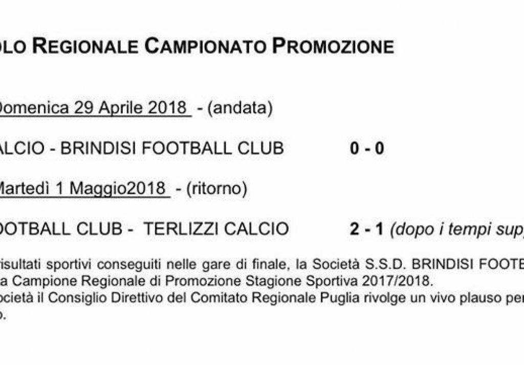 Chiarimento della FIGC sulla finale di coppa di Promozione